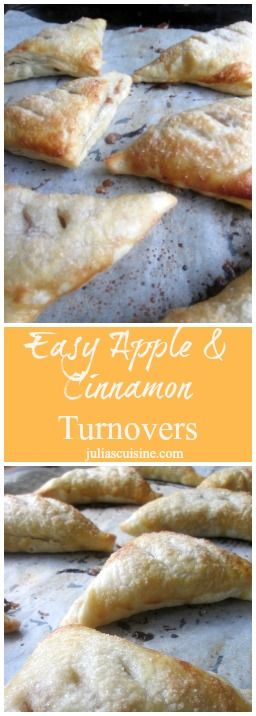 Wake up to super Easy Apple & Cinnamon Turnovers!  http://www.juliascuisine.com/home/easy-apple-and-cinnamon-turnovers
