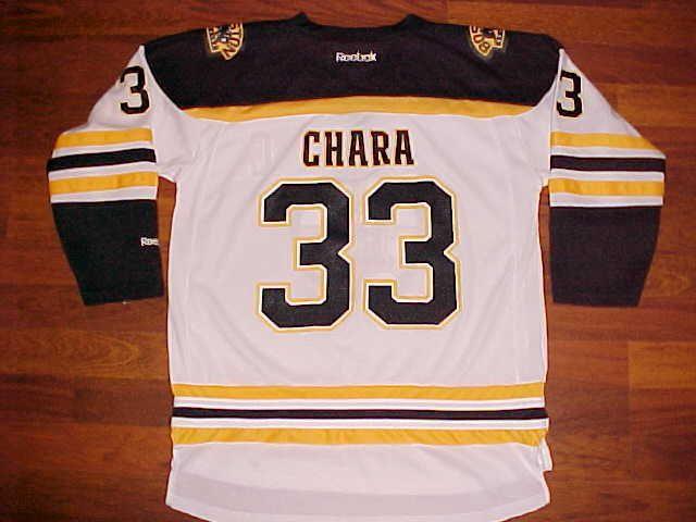 Reebok NHL Atlantic Eastern Boston Bruins Zdeno Chara #33 Youth Hockey Jersey L #Reebok #BostonBruins