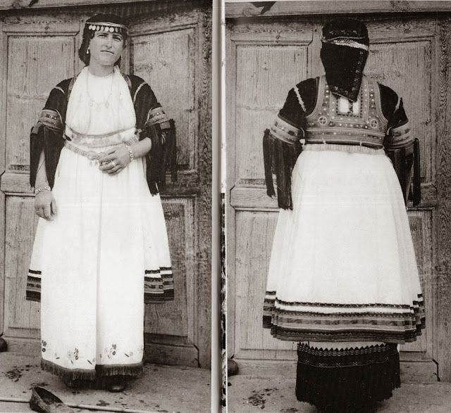 FolkCostume&Embroidery: Costume of the Karagouni, Thessaly, Greece