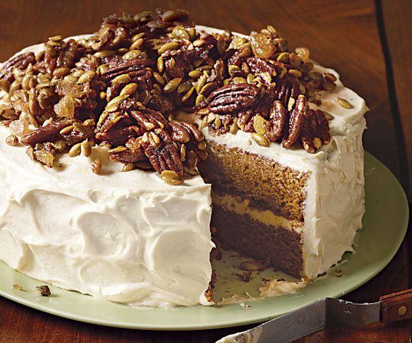 Brown Butter Pumpkin Layer Cake // Recipe: http://www.finecooking.com/recipes/brown-butter-pumpkin-layer-cake.aspx