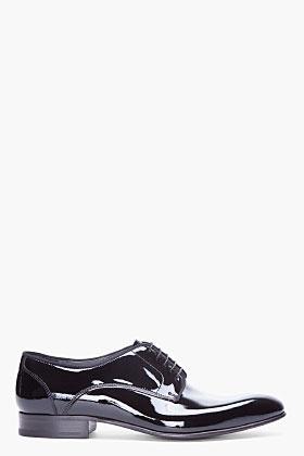 Lanvin Black Patent Dress Shoes for Men | SSENSE
