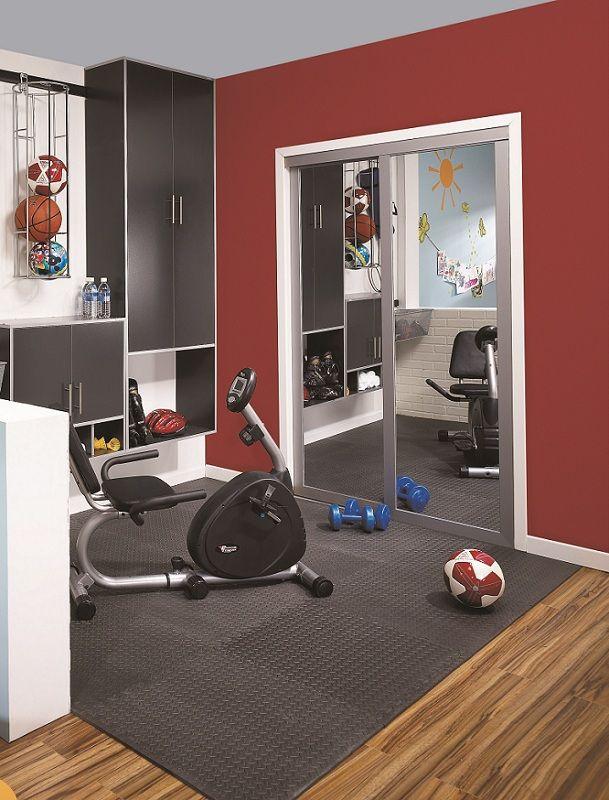 les 25 meilleures id es de la cat gorie salle de gym au. Black Bedroom Furniture Sets. Home Design Ideas