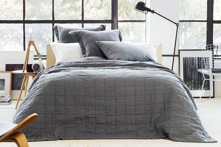 abbotson linen bed cover