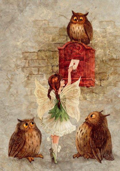 Феечка и почтовые совы - Lovelycards