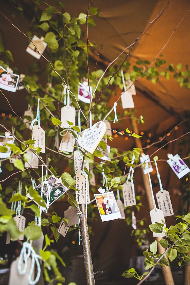 Attractive 7 Quick And Easy Rustic Wedding Details That Wonu0027t Blow The Budget   Wish  Trees Are A Fab Idea   Take The Notes With You On Honeymoon And Read Them  On The ...
