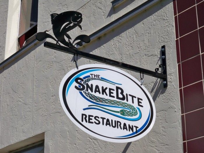 "The Snake Bite Restaurant. Idaho Falls, ID. Don't let the plain brick, ""corner drug store"" look fool you. The Snakebite is a local favorite, family-run and serving up stellar cuisine like Osso Bucco and their renowned Teton burger."