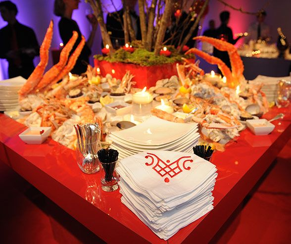 Wedding Reception Buffet Food Ideas: King Crab Legs Emerge From A Complete Seafood Buffet With