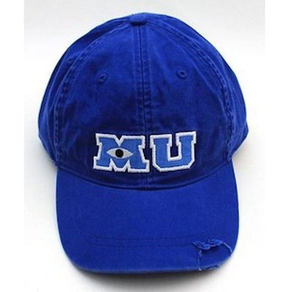 Disney Park M U Monsters University Adult Size Baseball Hat Cap NEW ($32) ❤ liked on Polyvore featuring accessories, hats, ball cap hats, ball caps, baseball caps hats, disney and disney hats