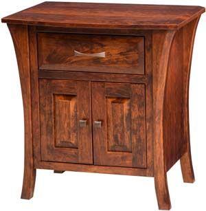$620 Amish Outlet Store : Ensenada 1 Drawer/2 Door Nightstand in Oak
