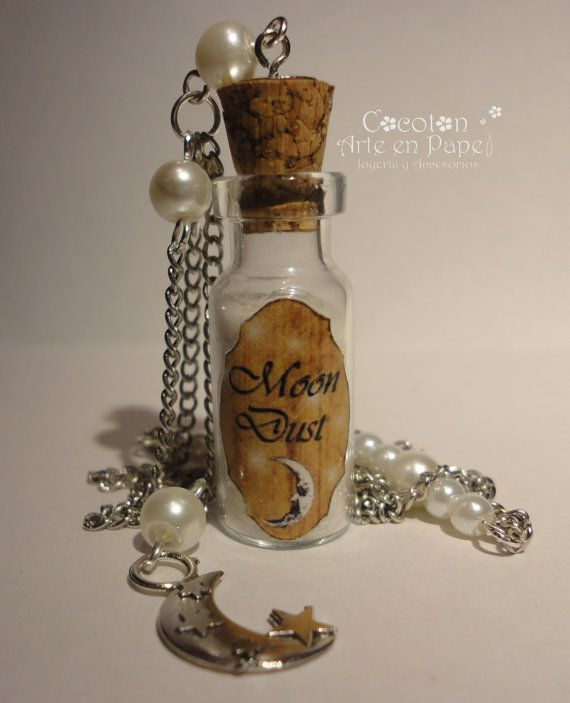 Moon Dust  Glow in the dark  Potion Bottle Charm  by CocotonStudio, $18.00
