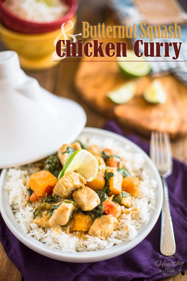 Butternut Squash Chicken Curry | thehealthyfoodie.com: