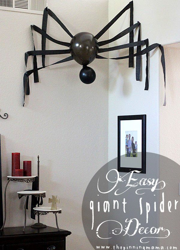 All you need is 3 items and 10 minutes to put together this large spider to decorate your home this Halloween! We have some high ceilings. I mean really high. So when I am decorating for the holid...