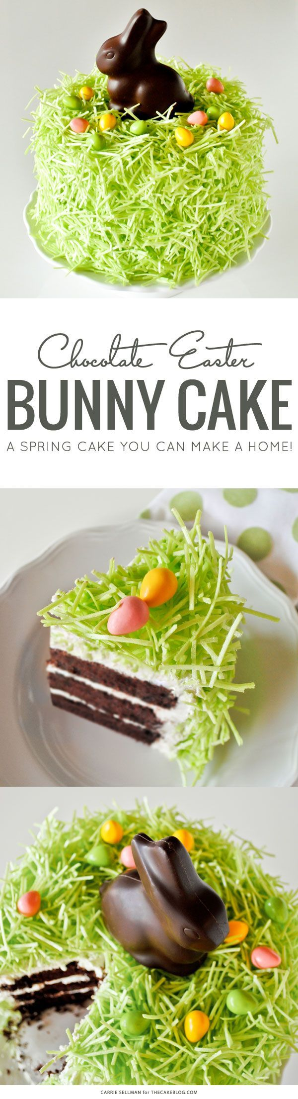 Chocolate Easter Bunny cake - a spring cake you can make at home! (desserts, dessert recipes, cake recipes)