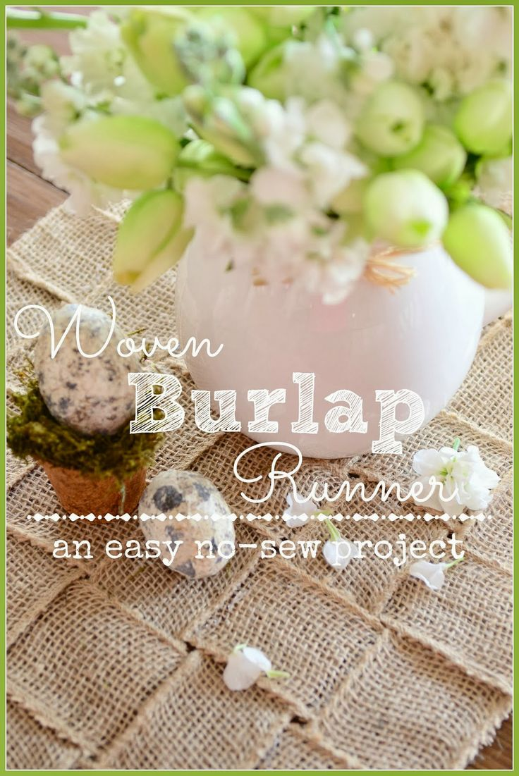 908 best images about 2016 spring wedding ideas on for Burlap fabric projects