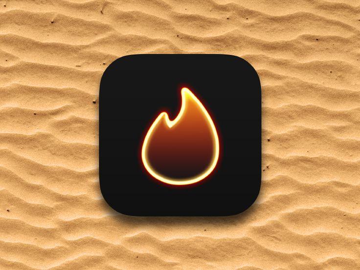 Tinder App Icon by Michael Gramling