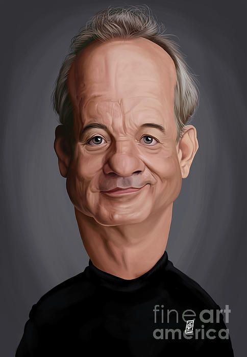 Bill Murray art | decor | wall art | inspiration | caricature | home decor | idea | humor | gifts