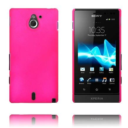 Hard Shell (Hot Rosa) Sony Xperia Sola Deksel