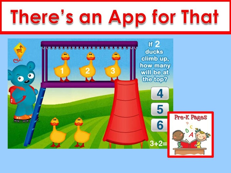 Apps for your preschool, pre-k, or kindergarten classroom.