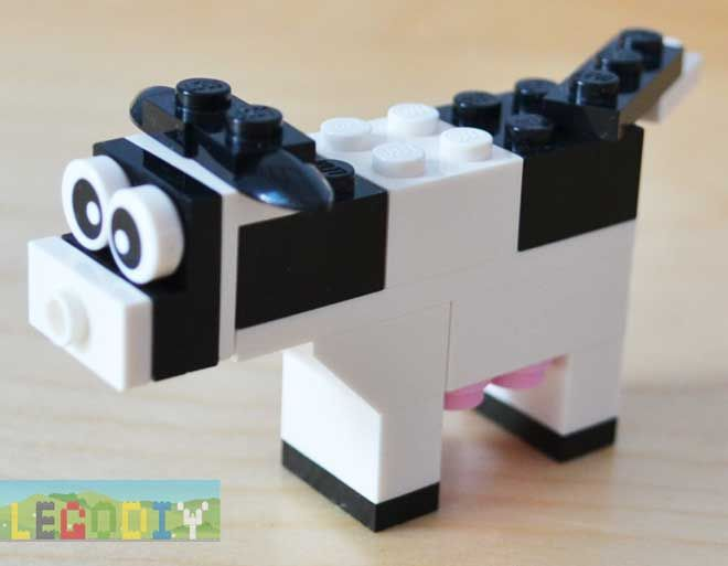 How to build simple lego cow from 10662 - instruction with photos
