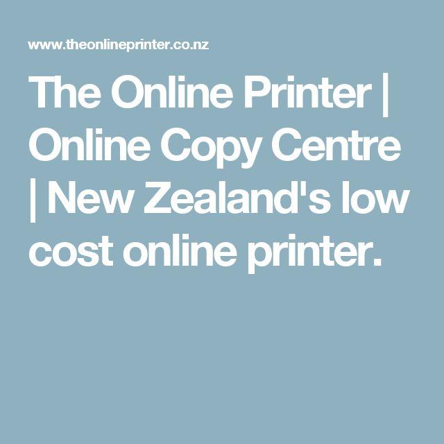 The Online Printer | Online Copy Centre | New Zealand's low cost online printer.