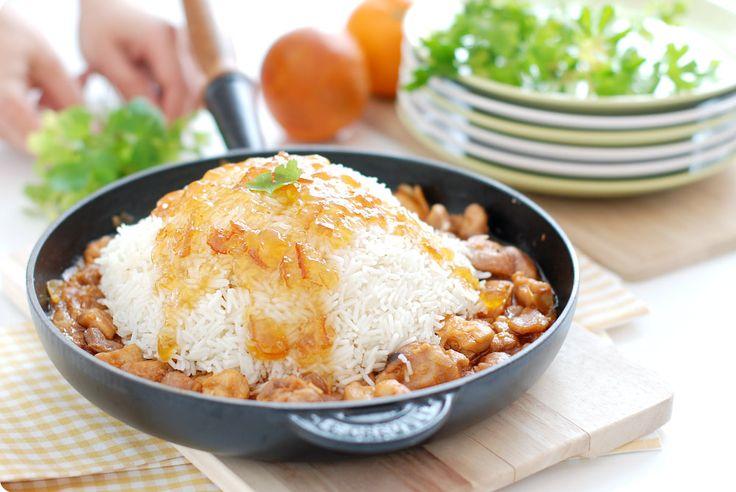 Receta de Pollo con almendras en salsa agridulce en Thermomix ®
