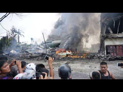 Indonesia: Rơi máy bay quân sự, ít nhất 113 người thiệt mạng