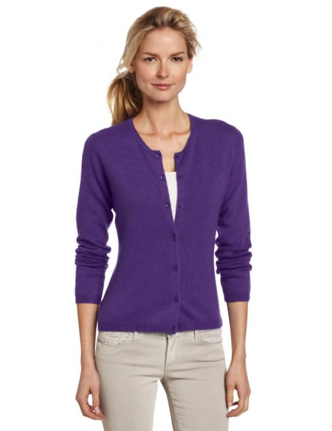 Purple Cardigan Sweater Women Baggage Clothing