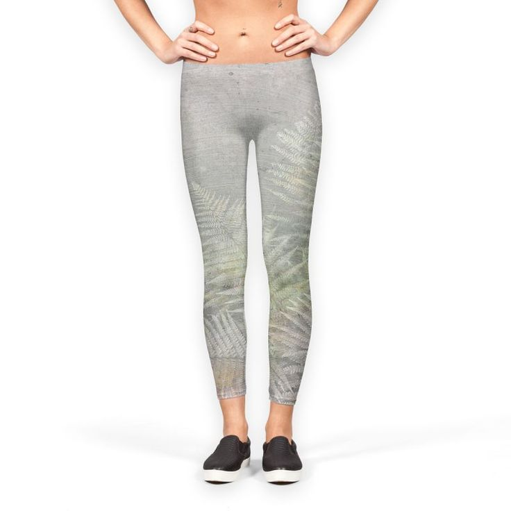 'Delicate Pastel Fern on Brushed Stone' Leggings by DominiqueVari on miPic    #fusion #fern #fossil #brushedstone #stone #concrete #grey #rosegold #rose #gold #botanical #beautiful #leaves #legging #keepfit #yoggapants #gymgear #fitandhealthy #artist #dominiquevari