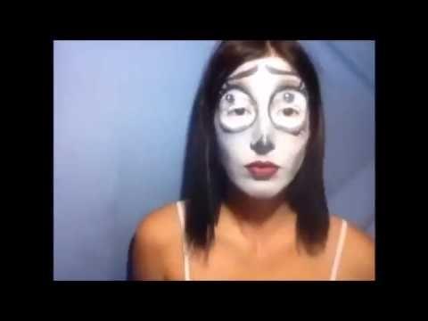 Stamatia Mavrikou - Emily Corpse Bride Haloween make up video
