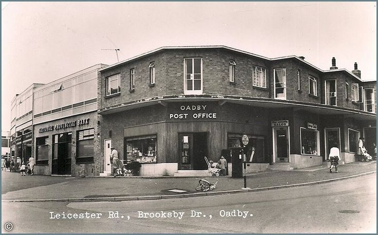 (6) Leicester Past & Present ~ A walk down Memory Lane.  Leicester Road, Brooksby Drive, Oadby ~ Postcard from the 1960s.