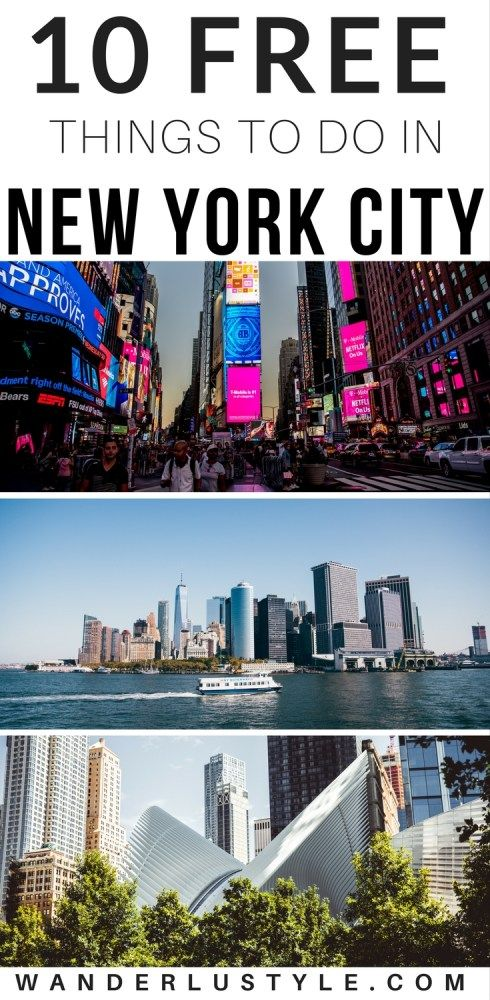 New York City has full of things to do from eateries, tours, activities, and more! Here are 10 FREE things you can do while in the city! New York Travel Tips, Things To Do New York, New York Budget Travel, New York City Tips | Wanderlustyle.com