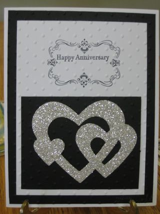 Anniversary Card, Wedding Card; Silver Glimmer Paper; www.jansstampingcreations.com