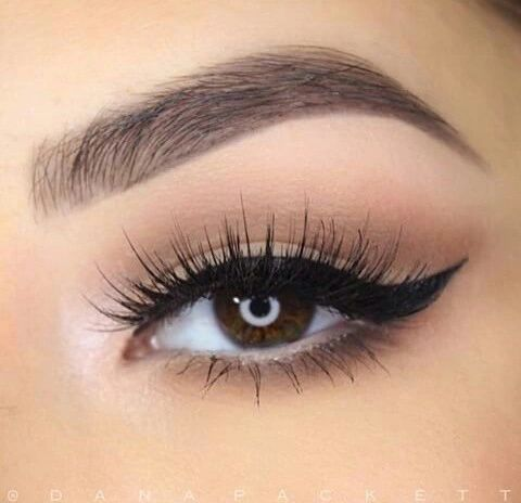 soft shadow and perfectly winged liner