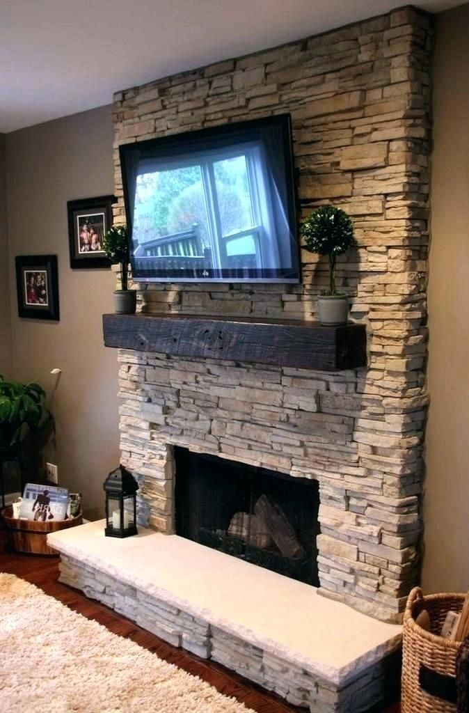 Gas Fireplace Mantels With Tv Above Fireplace Remodel Fireplace Design Stacked Stone Fireplaces
