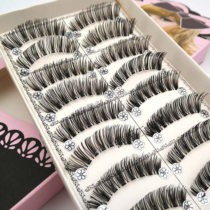 10 Pairs Eyelash Extension Long False Eyelashes Black Makeup Fake Eye Lashes Make Up Tools wimper extensions L03
