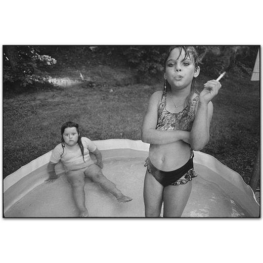 Amanda and Her Cousin Amy,Valdese, North Carolina, USA, 1990, photo by Mary Ellen Mark , Mary Ellen Mark 55