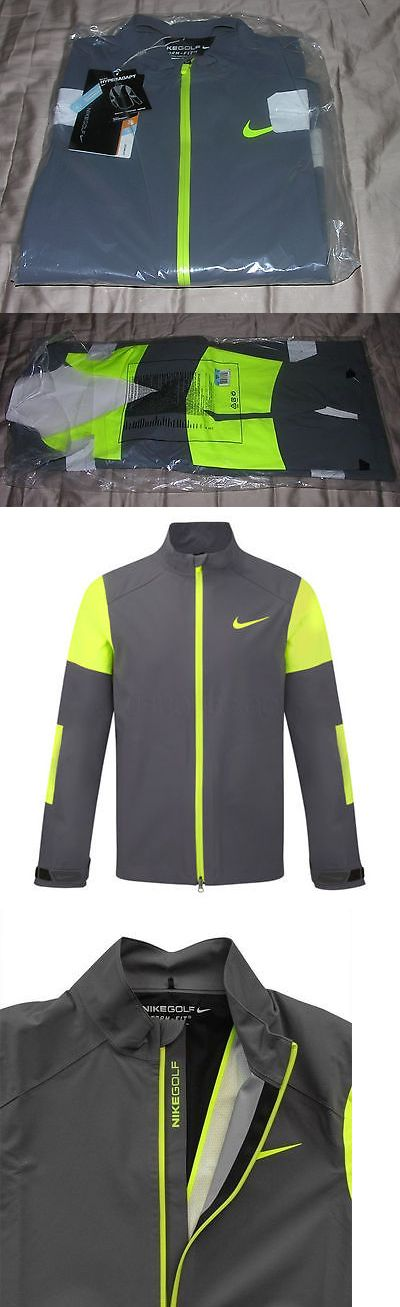 Other Golf Clothing 158939: Nike-Hyperadapt-Storm-Fit-Full-Zip-Jacket-Style-559522-Dark-Grey-Volt-Waterproof -> BUY IT NOW ONLY: $129.99 on eBay!