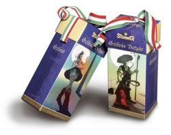 Chocolate covered plum with great hungarian folklor design and awsome flavour from Stühmer Try it!