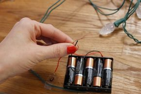 Creating battery-powered Christmas lights is simple. A number of situations require Christmas lights to run on battery power. Whether you are placing the lights where there are no power outlets, or running a cord is not convenient or safe--such as on a door wreath--it is simple to convert your Christmas lights from running on AC power to battery...