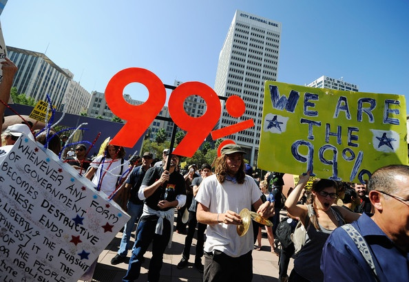 Occupy Wall Street protest in Los Angeles, CA on October 1st, 2011
