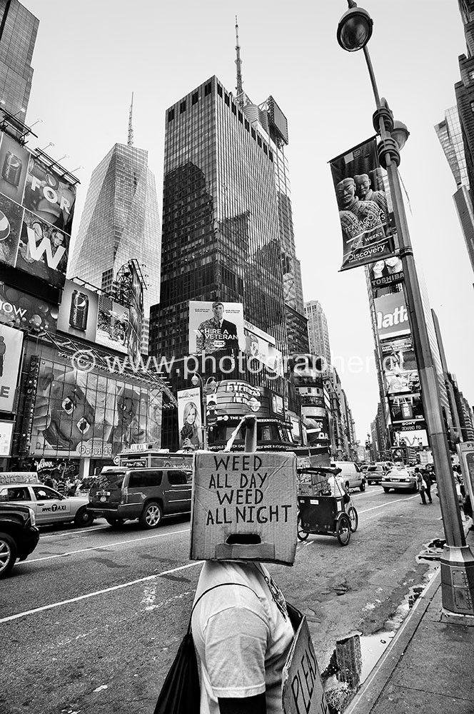Protesting Time Square New York
