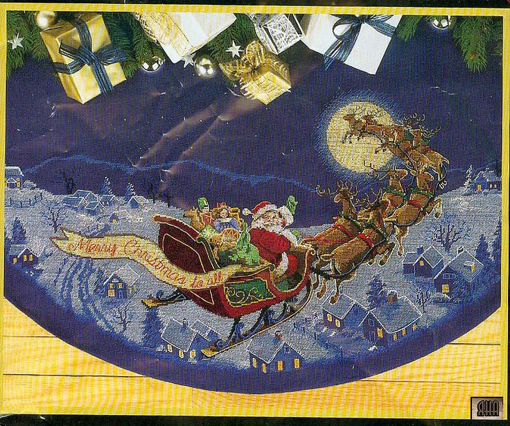 Gallery.ru / Фото #1 - 9  Here Comes Santa tree skirt SAVED
