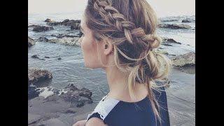 tuto coiffure cheveux mi long - YouTube