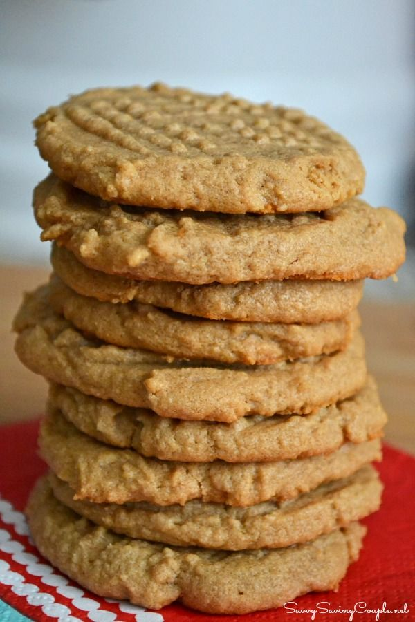 Super Easy Three Ingredient Peanut Butter Cookies #Recipe #GlutenFree