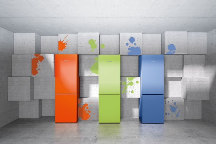 Liebherr ColourLine combination fridge freezers featuring NoFrost technology will really pop in a modern kitchen.
