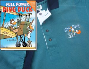 Special Offer: Ding Duck embroidered Polo Shirt + Ding Duck Cartoon Book for $39.50