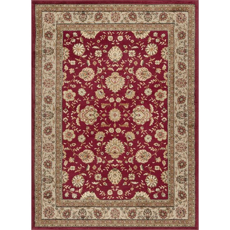 Elegance Red 7 ft. 6 in. x 9 ft. 10 in. Traditional Area Rug