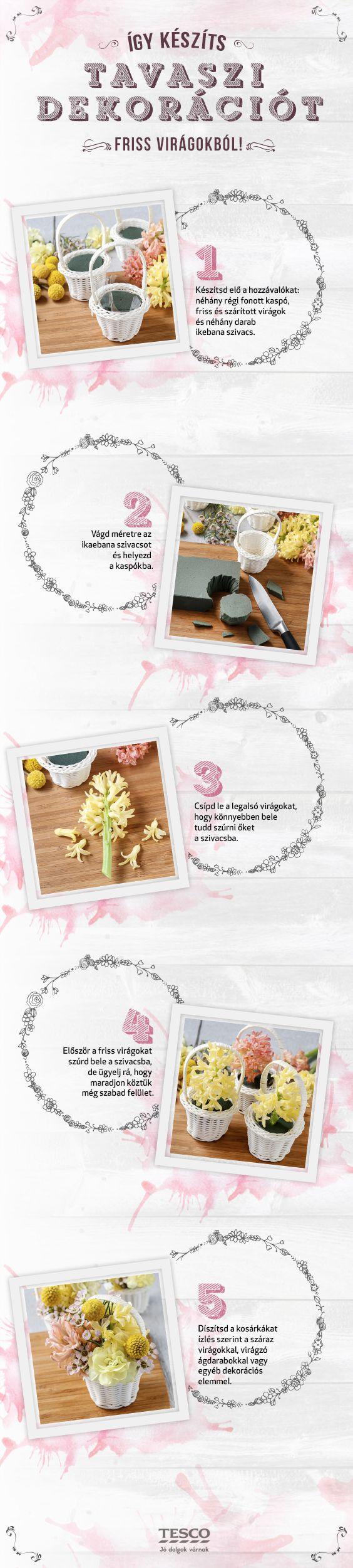 Legyen a Tiéd a legszebb húsvéti vendégváró asztal! Készítsd el ezt a csodálatos dekorációt, ami nem csak széppé, de illatossá is varázsolja az otthonod! :) #dekoracio #diy #ivrag #tavasz
