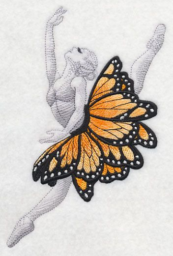 Pretty embroidery, but I'm saving this mostly as inspiration for the ballet pose, which I've tried unsuccessfully to draw several times.