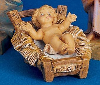 """$35.99-$43.00 Set of 2 Fontanini 5"""" Baby Jesus Christmas Nativity Figurines #72513 - For the Fontanini 5"""" Collection By Roman Inc. Item #72513 Each piece is sculpted and hand-painted by skilled Italian artisans Baby Jesus can be removed from his crib Actual dimensions: 1.5""""H x 2.25""""W x 2.75""""D Material(s): virtually unbreakable, child-friendly polymer Each figurine comes individually gift boxed a ..."""